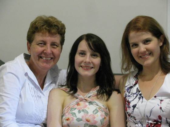 Mama, Jess, and Me.