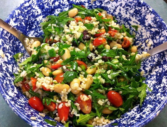 Butter bean, tomato, and brown rice salad
