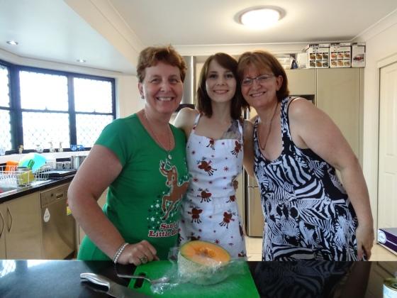 Mama, Jess, and my Aunty Lone.