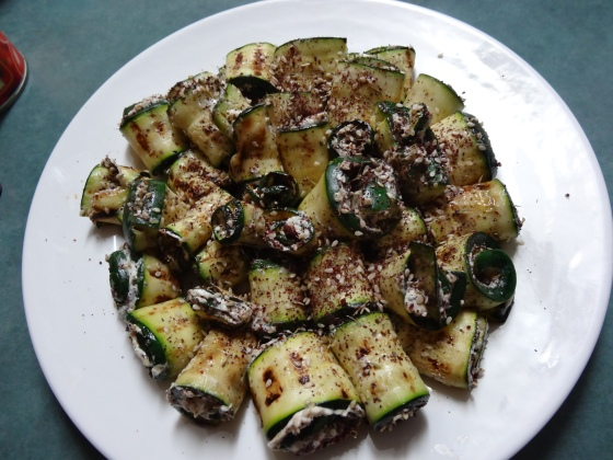 Grilled Zucchini Roll-ups from the Sprouted Kitchen Cookbook