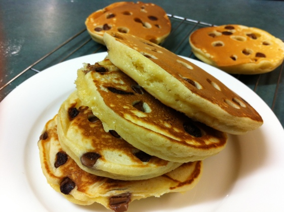 Stacks on stacks of pancakes...