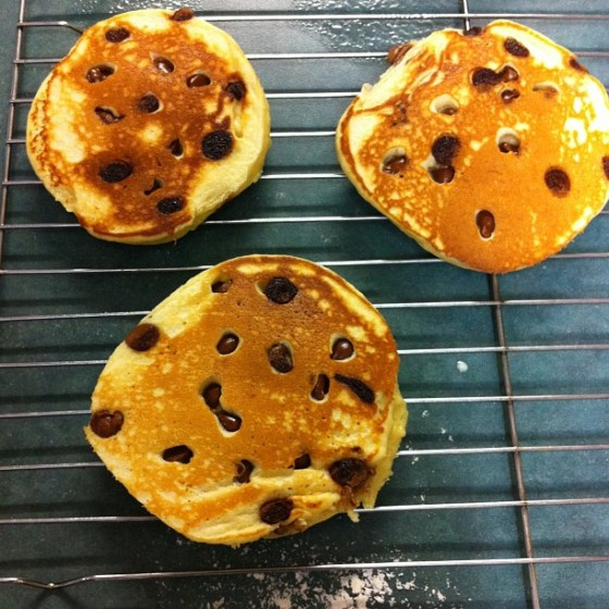 Choc-chip pancakes