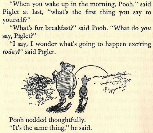 Breakfast Winnie the Pooh and Piglet
