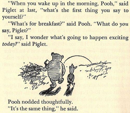 Breakfast Winnie the Pooh and Piglet