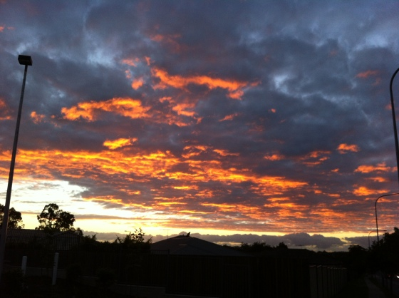 A sunrise to start my week