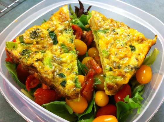 Frittata for a packed lunch