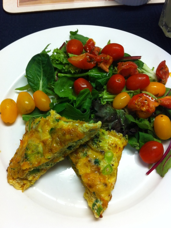 Frittata for a light dinner