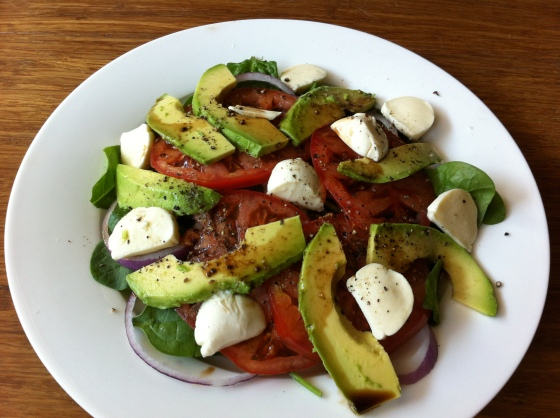 Farmer's Market Caprese with Avocado Salad