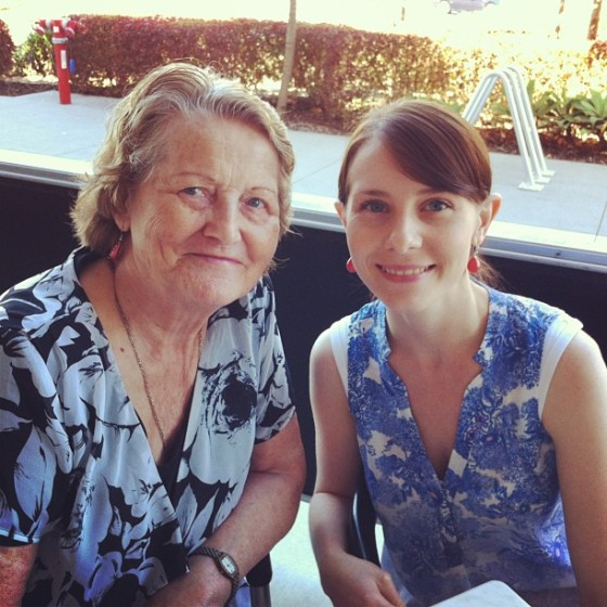 My grandmother and my little sister