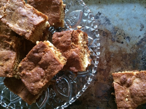 Coconut Blondies (gluten free)