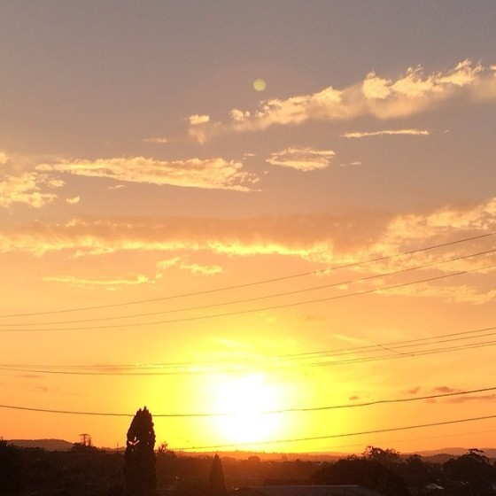 My sunset walk