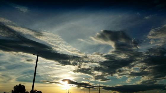 Sun setting Toowoomba