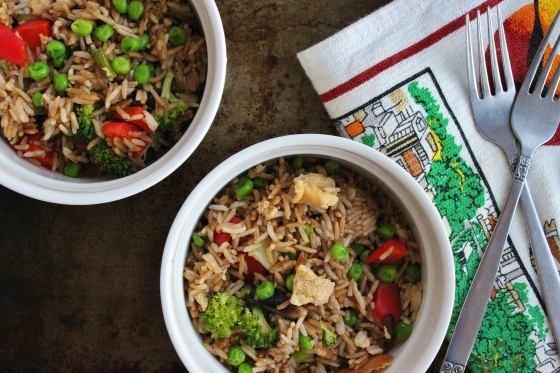 Chris's Fried Rice | Thoroughly Nourished Life | Vegetarian | Gluten Free
