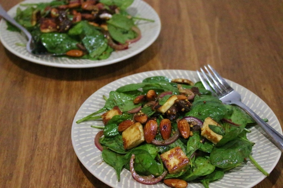 Haloumi Date Almond Salad | Gluten Free | Vegetarian | Thoroughly Nourished Life