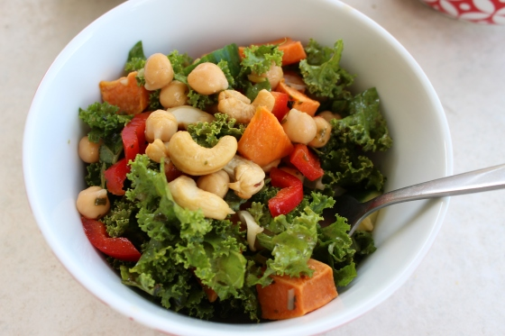 Spicy Thai-Inspired Kale Salad | Thoroughly Nourished Life | Vegan | Gluten Free