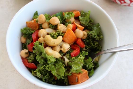 Spicy Thai-Inspired Kale Salad | Thoroughly Nourished Life | Vegan | Gluten Free