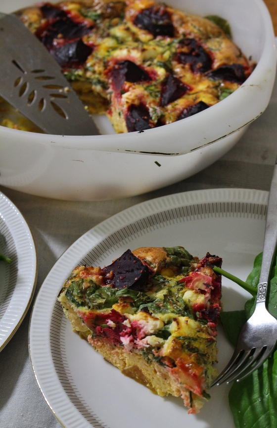Beetroot, Thyme, and Feta Frittata | Vegetarian | Gluten Free | Thoroughly Nourished Life