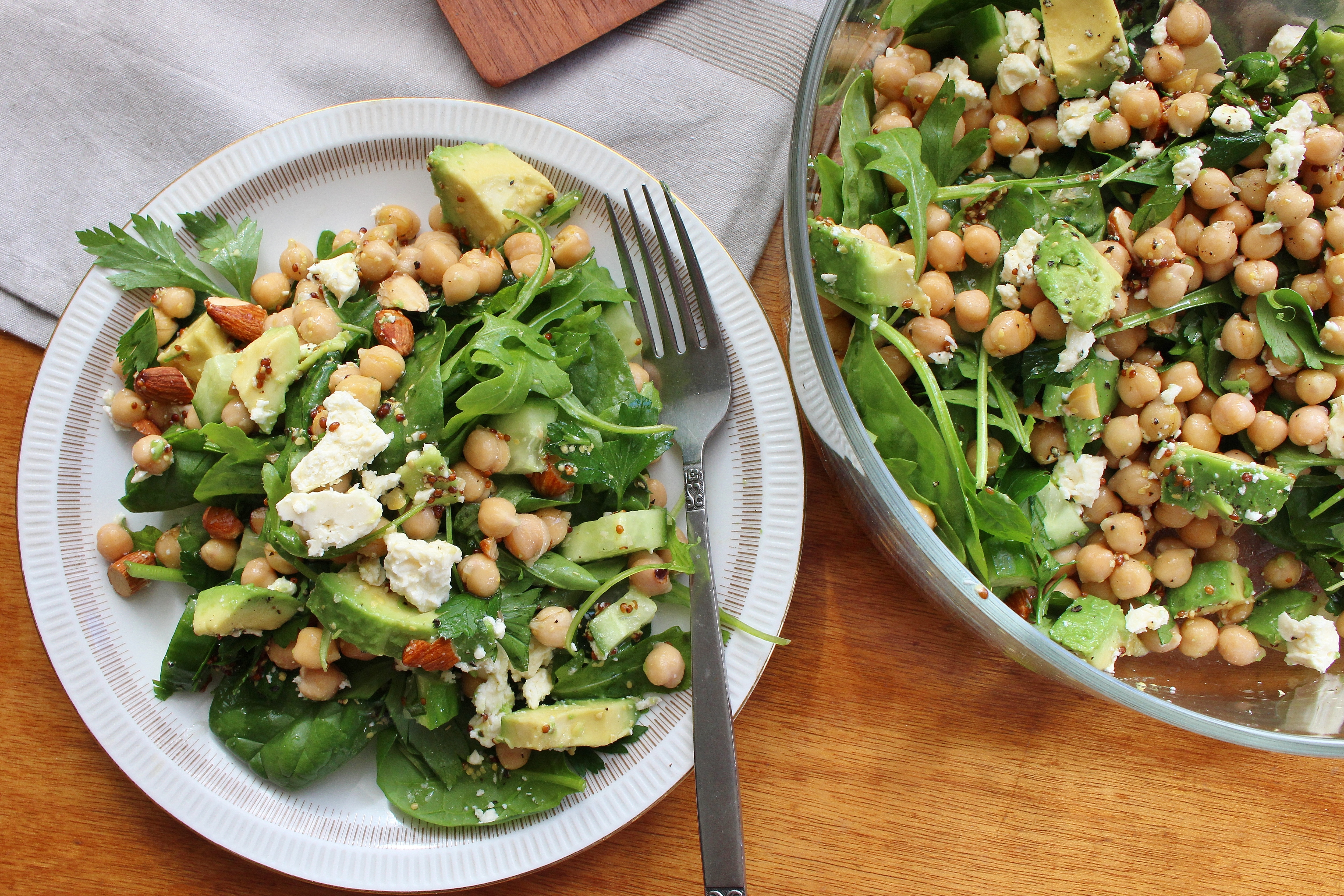 avocado lime chickpea salad add the fresh avocado spicy chickpea salad ...