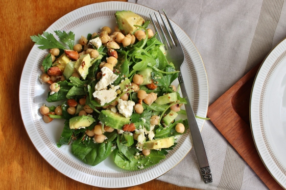 Parsley, Chickpea, Avocado, and Greens Salad | Gluten Free | Vegetarian | Thoroughly Nourished Life