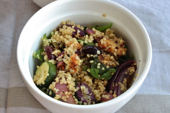 Quinoa, Olive, Zucchini and Rocket Salad | Gluten Free | Vegan | Thoroughly Nourished Life