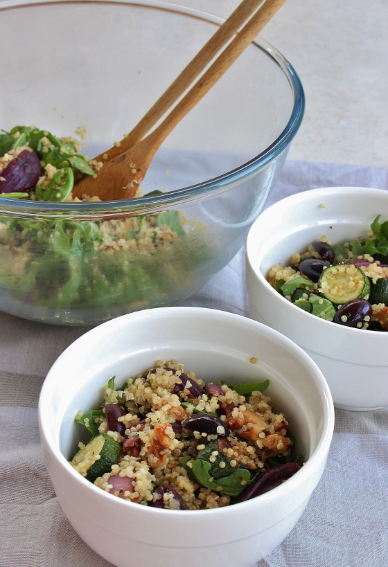 Quinoa, Olive, Zucchini and Rocket Salad | Gluten Free | Vegan | Thoroughly Nourished Life