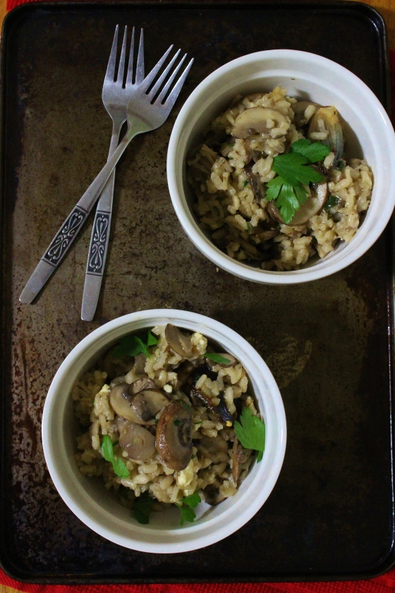Roasted Shallot and Mushroom Risotto | Vegetarian | Gluten Free | Thoroughly Nourished Life
