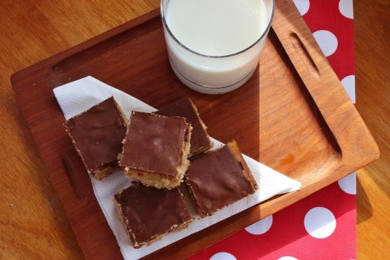 Salted Peanut Caramel Chocolate Slice 4