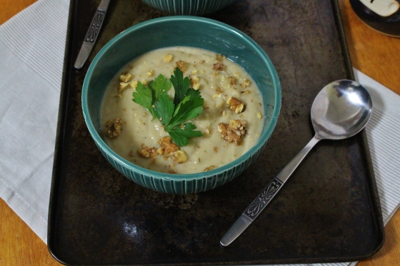Creamy Cauliflower Soup | Vegan | Gluten Free | Thoroughly Nourished Life