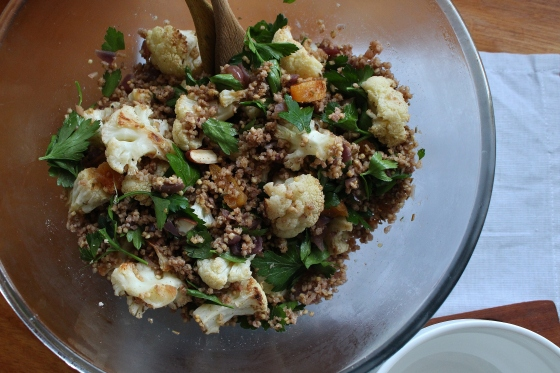 Crispy Cauliflower and Spiced Millet Salad | Gluten Free | Vegan | Thoroughly Nourished Life