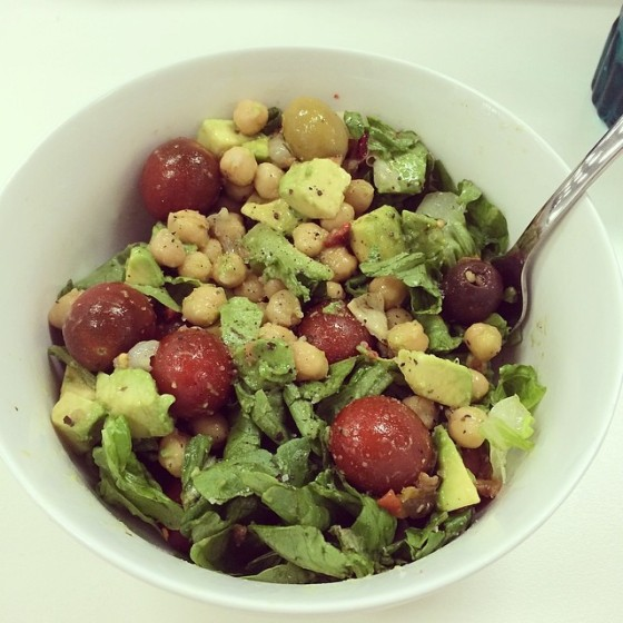 Pesto and antipasto salad