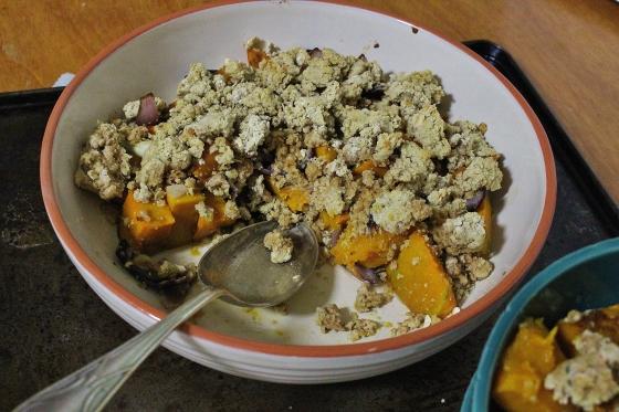Savoury Pumpkin Crumble 2
