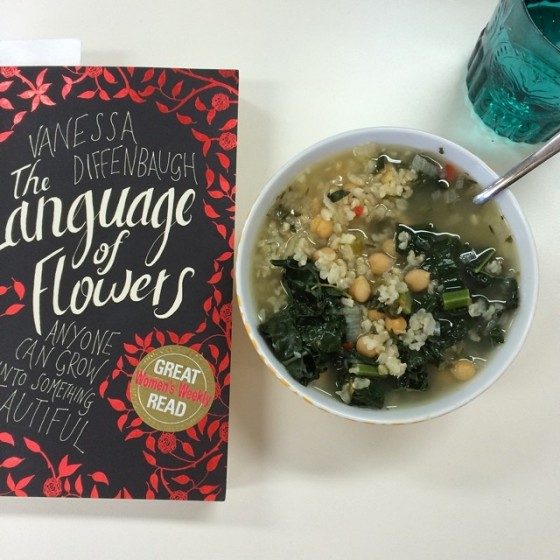 Soup and book