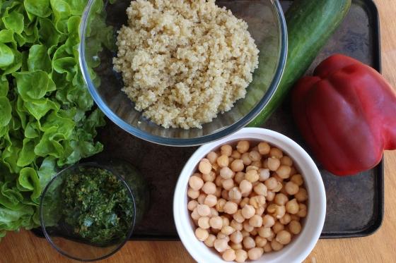 Coriander Pesto Quinoa Salad | Gluten Free | Vegan | Thoroughly Nourished Life