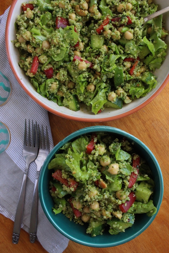 Coriander Pesto Quinoa Salad | Vegan | Gluten Free | Thoroughly Nourished Life