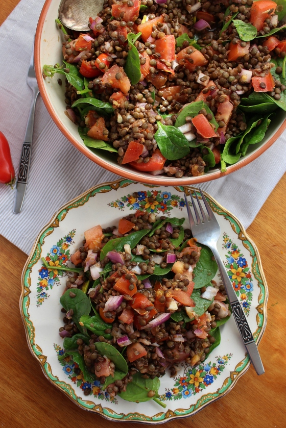 French Lentil and Tomato Salad | Vegan | Gluten Free | Thoroughly Nourished Life