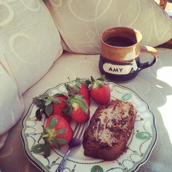 Monday breakfast in the sun