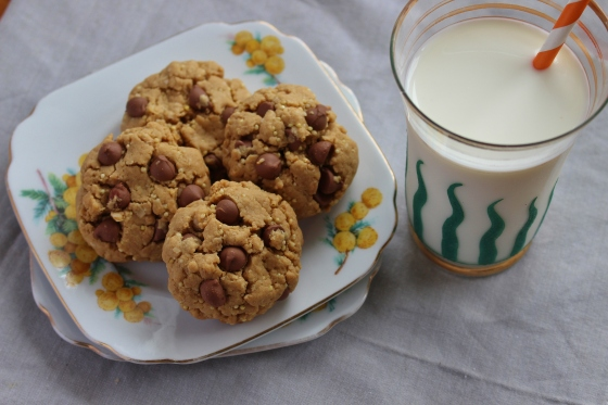 Peanut Butter and Millet Chocolate Chip Cookies | Gluten Free | Thoroughly Nourished Life