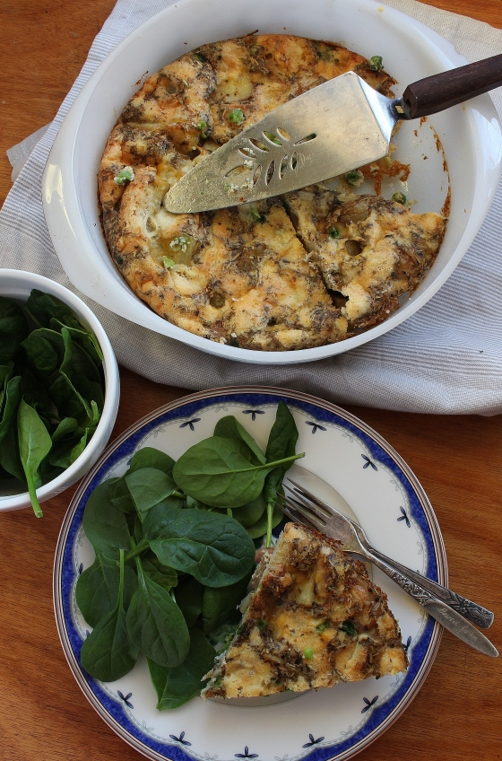 Roast Potato, Pea, and Vintage Cheddar Frittata | Vegetarian | Gluten Free | Thoroughly Nourished Life