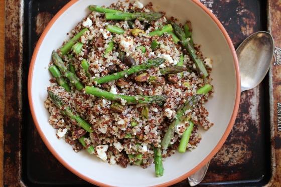 Asparagus, Pistachio and Quinoa Salad | Vegetarian | Gluten Free | Thoroughly Nourished Life