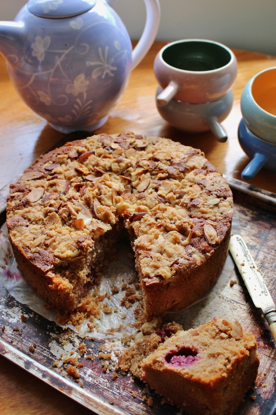 Lemon Crumble Blackberry Tea Cake | Gluten Free | Thoroughly Nourished Life