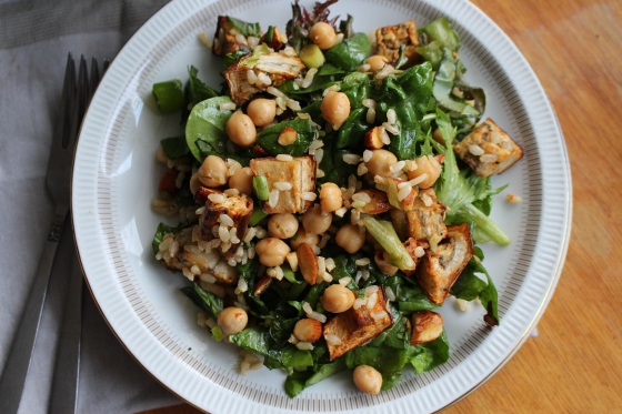 Spiced Eggplant and Chickpea Salad | Vegetarian | Gluten Free | Thoroughly Nourished Life
