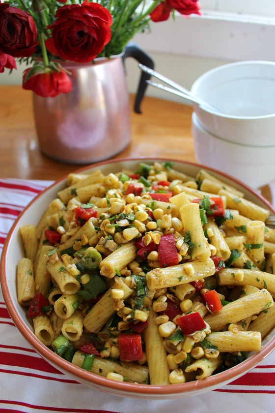 Spicy Corn and Capsicum Pasta Salad | Vegan | Gluten Free | Thoroughly Nourished Life