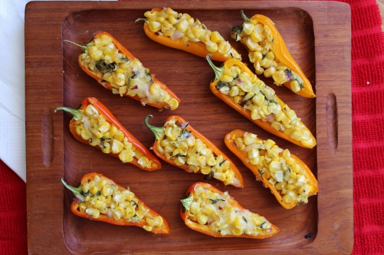 Paprika Corn Stuffed Mini Sweet Peppers | Vegetarian | Gluten Free | Thoroughly Nourished Life