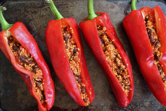 Black Bean and Millet Stuffed Peppers | Vegan | Gluten Free | Thoroughly Nourished Life