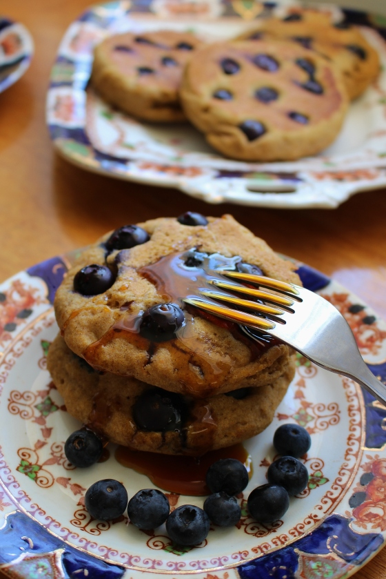 Blueberry Pumpkin Pancakes | Gluten Free | Thoroughly Nourished Life