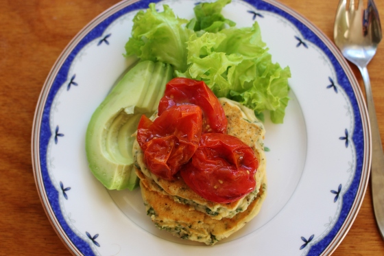 Parsley Ricotta Fritters with Balsamic Roasted Grape Tomatoes | Gluten Free | Vegetarian | Thoroughly Nourished Life