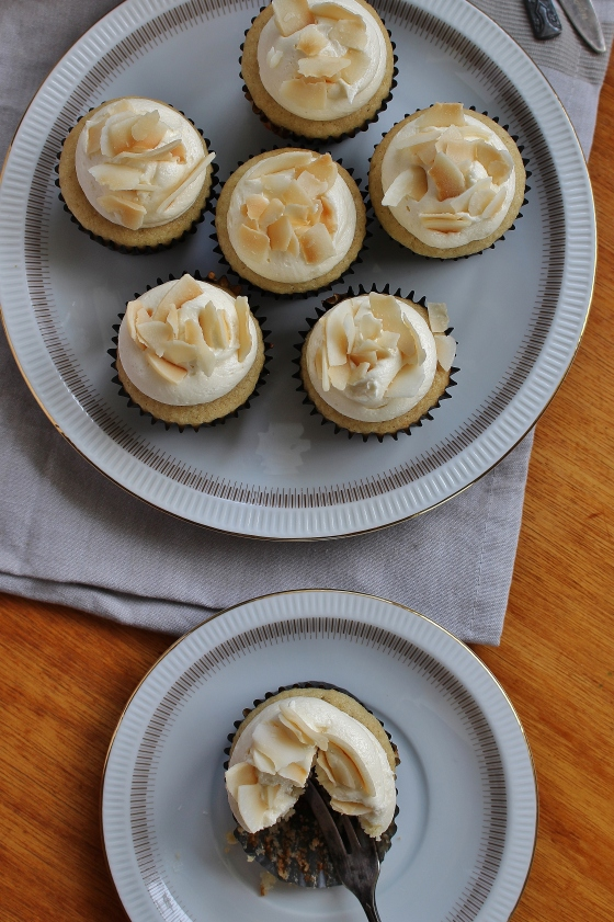 Coconut Cupcakes with Coconut Buttercream | Gluten Free | Thoroughly Nourished Life