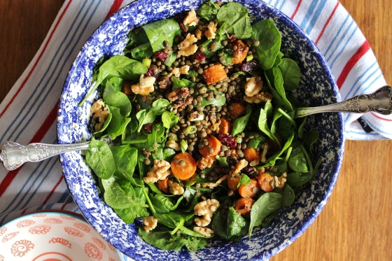 Roasted Carrot and Lentil Salad | Vegan | Gluten Free | Thoroughly Nourished Life