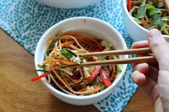 Shredded Vegetable Salad with Red Curry Coconut Dressing | Vegan | Gluten Free