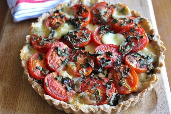 Summer Tomato and Herb Tart | Vegetarian | Gluten Free | Thoroughly Nourished Life